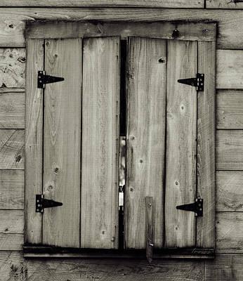 Photograph - Barn Window by Chris Coffee