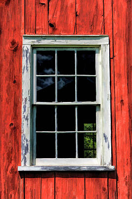 Old World Painting - Barn Window Closeup At Old World Wisconsin by Christopher Arndt
