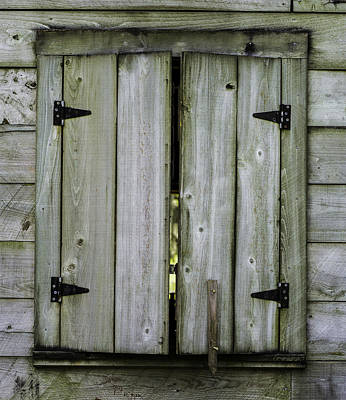 Photograph - Barn Window, In Color by Chris Coffee