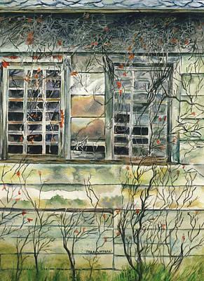 Painting - Barn Window by Paula Nathan