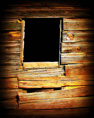 Barn Window Art Print by Perry Webster