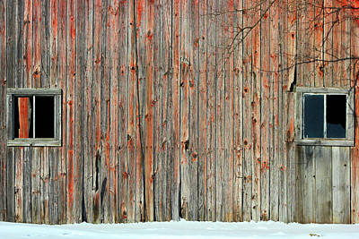 Photograph - Barn Windows 10 by Mary Bedy