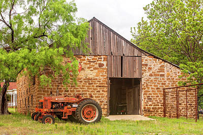 Photograph - Barn With Farmall Tractors by Art Block Collections