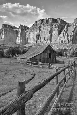 Photograph - Barn With Mountains by Debbie Green