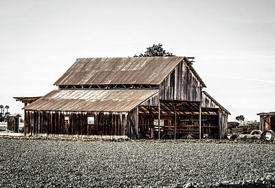 Photograph - Barn With Outhouse by Gene Parks