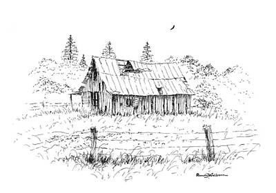Drawing - Barn With Skylight by Randy Welborn
