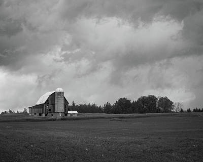 Photograph - Barn With Storm Clouds by Kimberly Kotzian