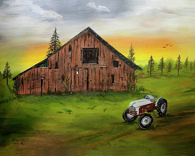 Photograph - Barn With Tractor by Robert Camp