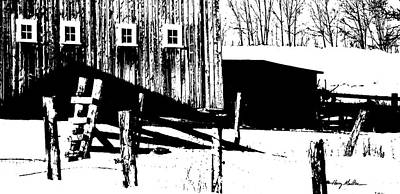 Photograph - Barn Yard by Harry Moulton