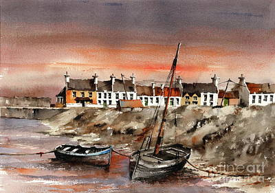Painting - Barna Sunset, Galway...x114 by Val Byrne