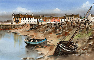 Painting - Barna Village, Galway by Val Byrne