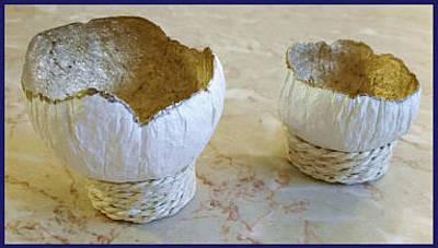 Mixed Media - Barnacle Bowls by Karan Sargent