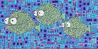 Barnacle Fish Art Print