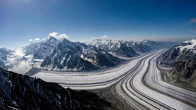 Photograph - Barnard Glacier Alaska by Fred Denner