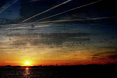 Photograph - Barnegat Bay Sunset 1 - Jersey Shore by Angie Tirado