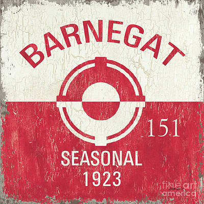 Barnegat Beach Badge Art Print by Debbie DeWitt