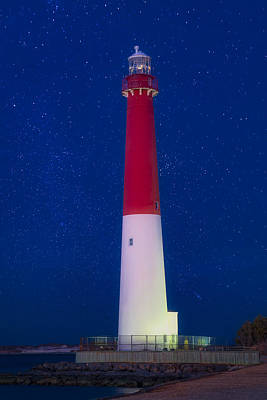 Photograph - Barnegat Light Star Shower by Susan Candelario