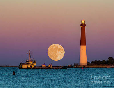Photograph - Barnegat Moon by Nick Zelinsky
