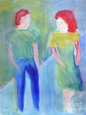 Art Print featuring the painting Barney And Elizabeth by Sandy McIntire