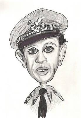 Don Knotts Drawing - Barney Caricature by Rebecca Marona