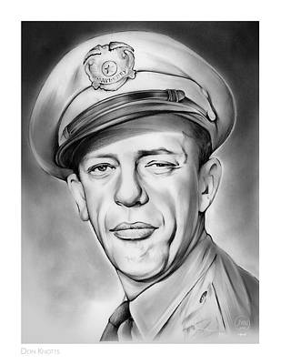 Don Knotts Drawing - Barney by Greg Joens