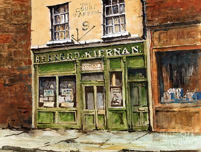 Painting - F  719 Barney Kiernans Pub, Dublin by Val Byrne