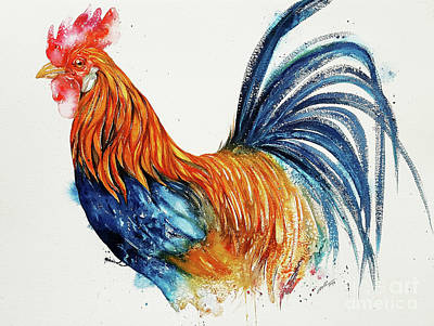 Painting - Barney The Rooster by Arti Chauhan