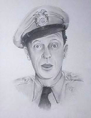 Mayberry Drawing - Barney by Tony King