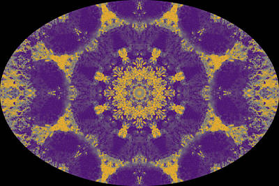 Digital Art - Barnie Paw Prints Kaleidescope 15 by Dorothy Berry-Lound