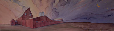 Painting - Barns And Silos by Scott Kirby