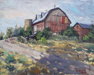 Georgetown Wall Art - Painting - Barns In Georgetown by Ylli Haruni