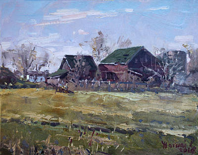 Farm House Painting - Barns In Niagara County by Ylli Haruni