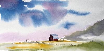 Wall Art - Painting - Barnscape by Dominique Bachelet