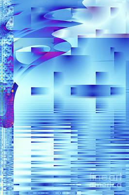 Reflections Digital Art - Barnsley Blue by John Edwards