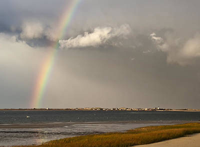 Photograph - Barnstable Harbor Rainbow by Charles Harden