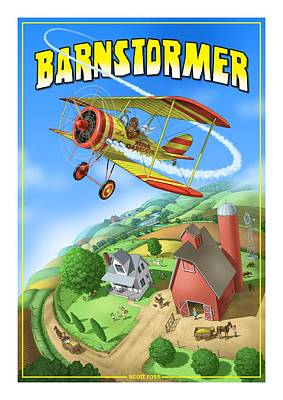 Digital Art - Barnstormer by Scott Ross
