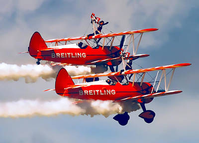 Barnstormers And Wing Walkers Art Print by Daniel Hagerman