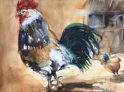 Painting - Barnyard Boss by Tom Steiner