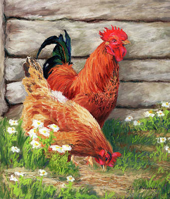 Pastel - Barnyard Buddies by Vikki Bouffard