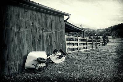 Photograph - Barnyard Bw Series 0841  by Carlos Diaz