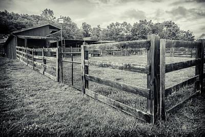 Photograph - Barnyard Bw Series 0844 by Carlos Diaz