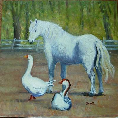 Painting - Barnyard Friends by Bonita Waitl