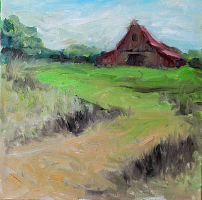 Napa Valley Vineyard Painting - Barnyard by Wyn Ericson
