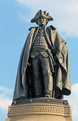 Photograph - Baron Von Steuben Statue by Cora Wandel