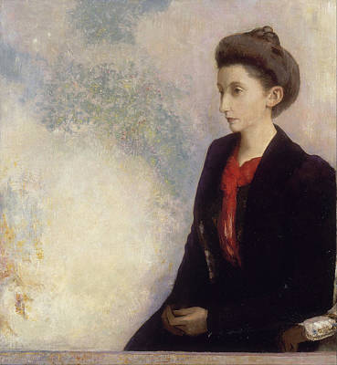 Painting - Baroness Robert De Domecy by Odilon Redon