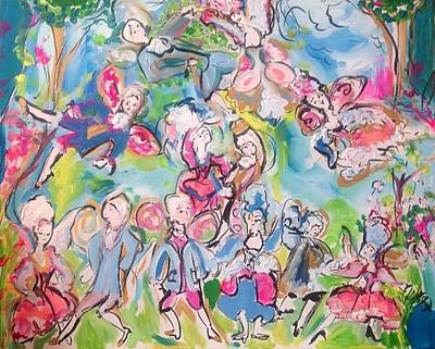 Painting - Baroque Fairy Party by Judith Desrosiers