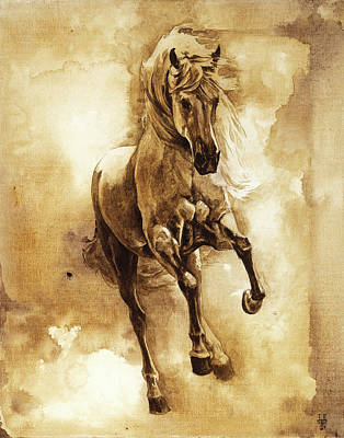 Highlight Painting - Baroque Horse Series IIi-ii by Heather Theurer