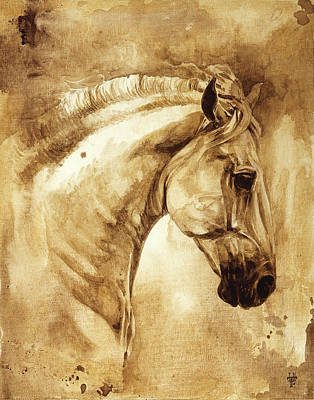 Highlight Painting - Baroque Horse Series IIi-iii by Heather Theurer