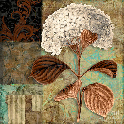 Hydrangeas Painting - Baroque Hydrangea Patchwork by Mindy Sommers