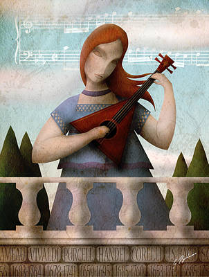 Classical Guitar Digital Art - Baroque In Heart by Gary Bodnar